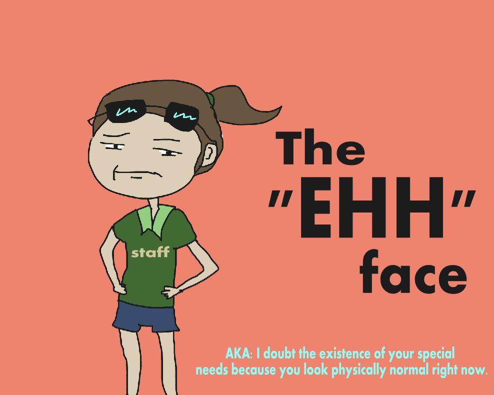 the ehh face
